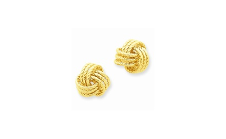 IceCarats Designer Jewelry 14k Polished & Twisted Love Knot Post Earrings