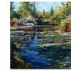 David Lloyd Glover Blooming Lily Pond Canvas Print