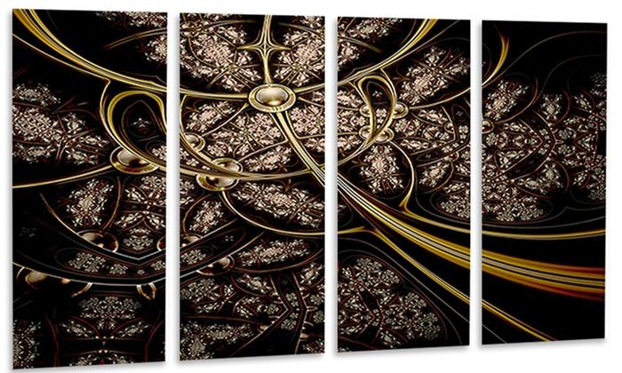 Symmetrical Metallic Fabric - Digital Art Metal Wall Art | Groupon