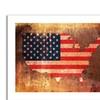 Michael Tompsett 'US Flag Map' Canvas Rolled Art