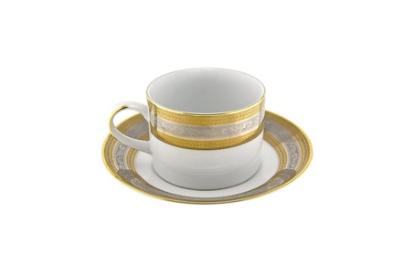 Ten Strawberry Street Elegance Gold - Can Cup And Saucer - Set Of 6 709443da-2bb3-4a8a-b2b6-f2a73c3a2c75