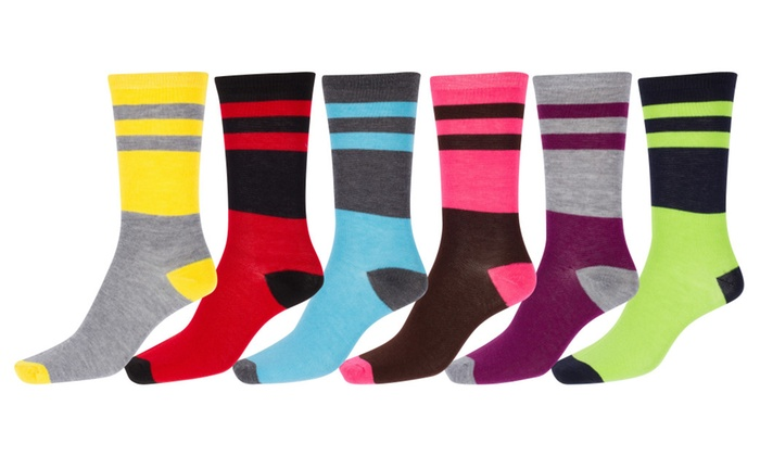 Sakkas Women's Soft And Stretchy Crew Pattern Socks Assorted 6-Pack