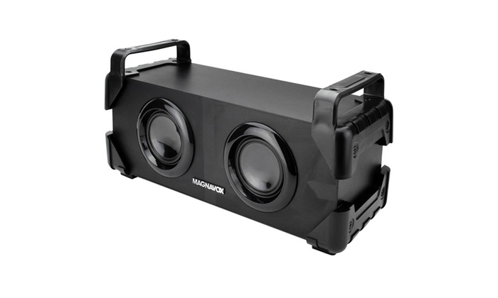 Magnavox Rechargeable Bluetooth Speaker with 32 ft Wireless Range