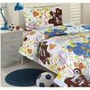 Jungle Fantasy Flower & Animal Kids Bedding Set 3 Piece, Twin