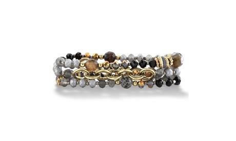 Grey Beaded Stretch Bracelet Set 80539076-e06f-4d42-b7db-ed3ee7fca077