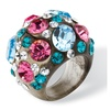 Multicolor Crystal Ring MADE WITH SWAROVSKI ELEMENTS in Gray Lucite