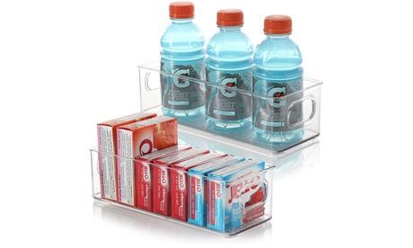 Storagebud Plastic Food Storage Bins - Food & Kitchen Containers - 2 Pack