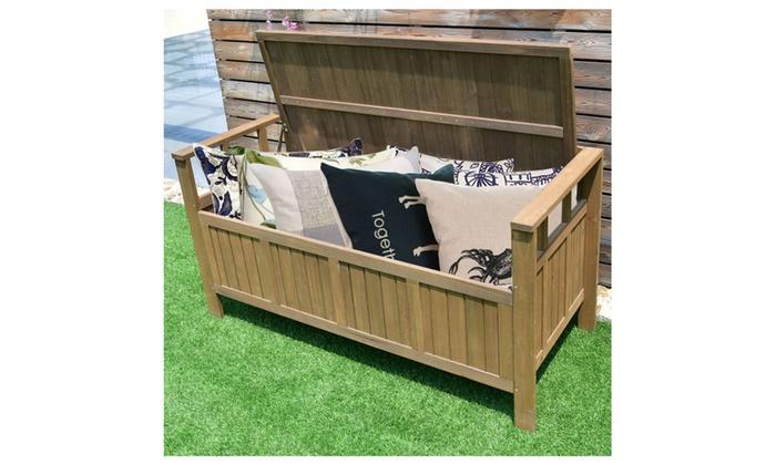 70 Gallon All Weather Outdoor Patio Storage Garden Bench Deck Box