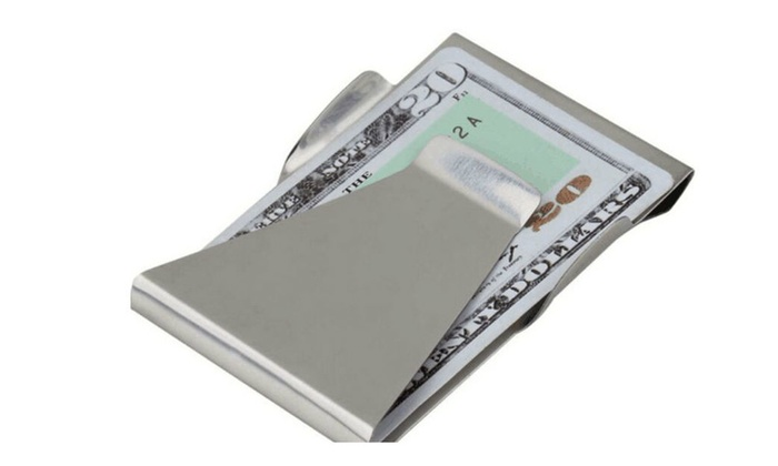 Stainless Steel Sided Money Clip