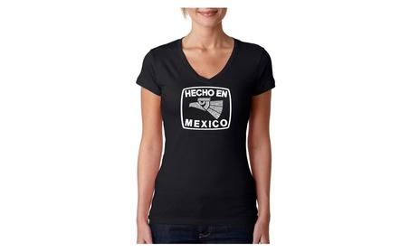 Women's V-Neck T-Shirt - HECHO EN MEXICO 72dc84b9-48f1-4b42-9527-8b380b003ec7