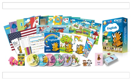 English for kids Deluxe set, 6 DVD set, Flashcard set, Books and Posters
