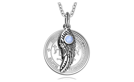 Archangel Gabriel Sigil Amulet Magic Powers Angel Wing Charm Pendant Necklace