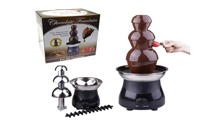 Buy It Now : 3 Tier Chocolate Fountain - Stainless Steel & Heat Resistant Plastic