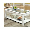 Sharla White High Gloss Glass Top Contemporary Coffee Table