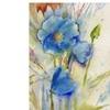 Sheila Golden Magical Blue Poppy Canvas Print