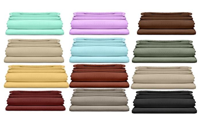 6 piece set bright colors 2000 series ultra soft double brushed sheet set multiple options. Black Bedroom Furniture Sets. Home Design Ideas