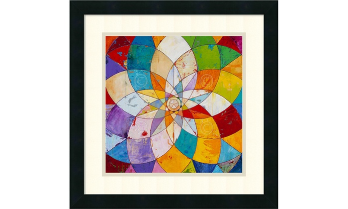 James Wyper Kaleidoscopic Framed Art Print 18x18 In