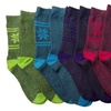 8 Pairs of Womens Colorful Thermal Socks, Marled Thermal Boot Socks