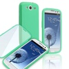Insten Teal Rubber Gel TPU Flip Book Case Cover for Samsung Galaxy S3