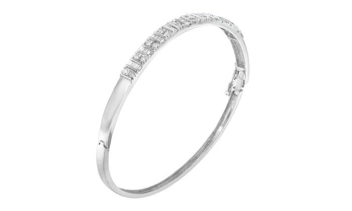 1.15 Ct Round Baguette Cut Diamond Engagement Wedding Ring 14K White Gold