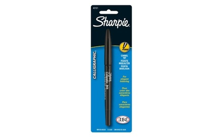 Sharpie Calligraphic Water Based Markers, 1 Black Marker (40101SH)