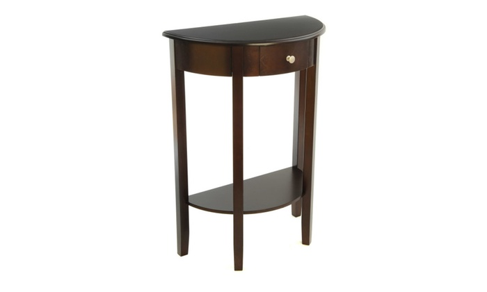Foyer Table Jcpenney : Half moon round hall table with drawer espresso groupon