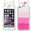 Perfume Bottle Stripes Hard 3D Rubber Case iPhone 6 Plus Pink/White