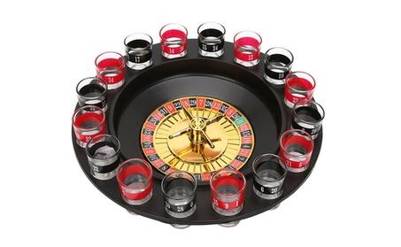 Drinking Game Roulette Set With 16 Shot Glasses 85bb8714-da76-4013-ba6f-6089c3307e0c