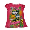 Disney Minnie Mouse What's Not to Love Pink Girls Fashion Tee