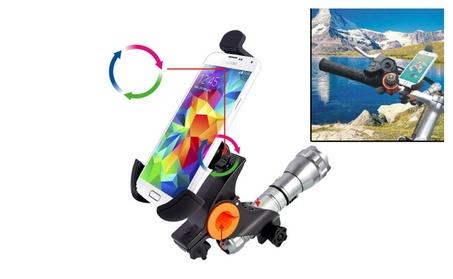360 Degrees Rotation Smartphone & Flashlight Bike Bicycle Mount 197c00e0-d44b-45a2-998c-fde2852f8a34