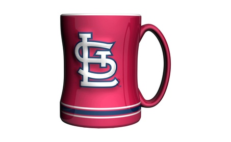 St. Louis Cardinals Coffee Mug - 14oz Sculpted Relief - Red 878535aa-fae2-4887-b6fc-6b429e0d3af8