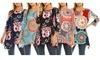 Haute Edition Women's Printed 3/4 sleeve Tunic Top (S-3X)