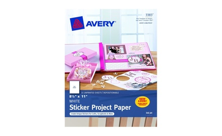 Avery 3383 Sticker Project Paper