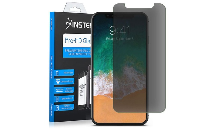 uk availability d0ab6 8fc19 Insten Edge to Edge Tempered Glass Screen Protector for iPhone X