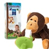 CuddlesMe Plush Monkey Toy w/Detachable Pacifier Holder Baby Animal