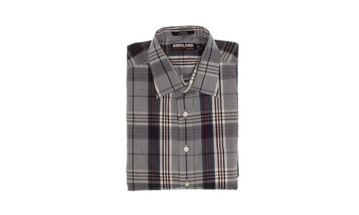 06b45c527f2e3 Kirkland Signature Men s 100% Cotton Non-Iron Sport Shirt ...