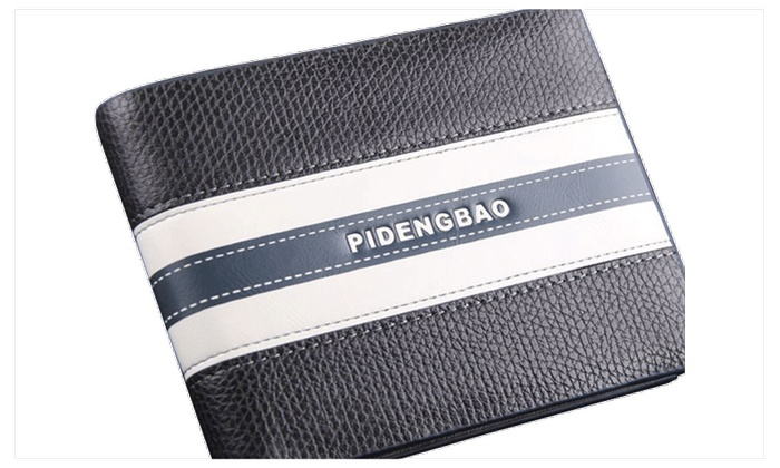 New Casual Men's Leather Wallet Black and White – ZWMW906 – Black & white