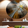 Symmetrical Fractal Flower' Disc Large Contemporary Circle Metal Wall Arts