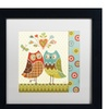 Lisa Audit 'Owl Wonderful II' Matted Black Framed Art