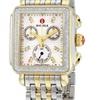 Michele MWW06P000108 Deco Two-Tone Diamond, Diamond Dial Watch
