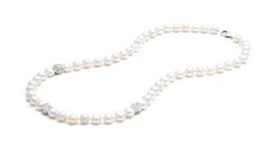Genuine Freshwater Pearl and Swarovski Crystal Necklace