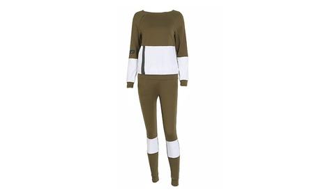 Women's Breathable Zipper Splicing Yoga Jogger Clothes Sport Suit 97f25d1d-5f6d-483d-817a-367642e7d6b5