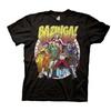 The Big Bang Theory Bazinga Superheros Adult Black T-Shirt