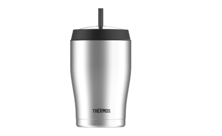 Thermos 22 Ounce Vacuum Insulated Cold Cup with Straw, Stainless Steel d5cc7d42-1131-414e-bf03-35cece5c6edf