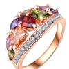 Rose Gold Color AAA Zircon Rings for Women