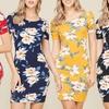 Style Clad Women's Floral Bodycon Mini Dress