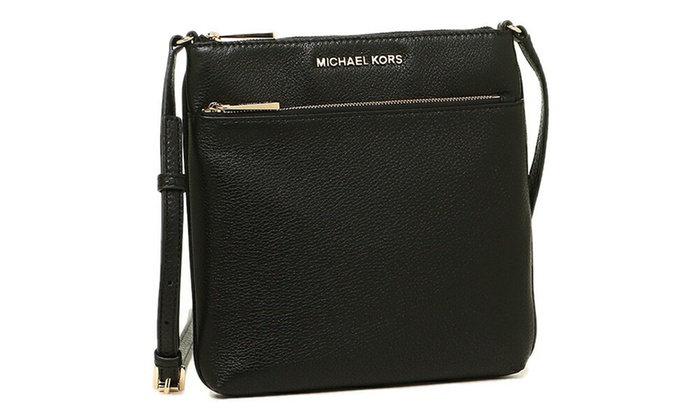 2488e0e9e8a3 Michael Kors Riley Small Pebbled Leather Messenger - Black - 32S5GRLC1L-001