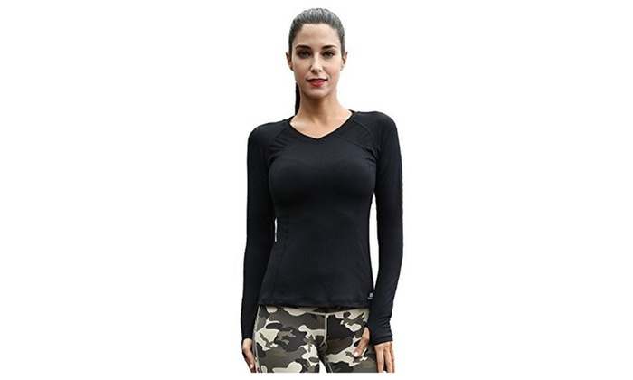 Women's  Long Sleeve Yoga Running Gym Sports T-Shirt