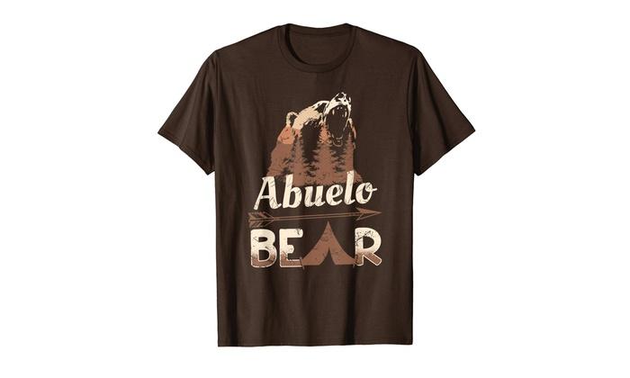 Mens Abuelo Bear T-Shirt Rustic Papa Bear New Grandpa Gift