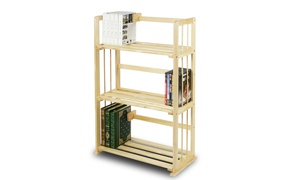 Furinno FNCL-33001 Pine Solid Wood 3 Tier Bookshelf
